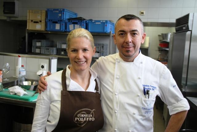 Cornelia Poletto guest chef con Salvatore Frequente resident chef