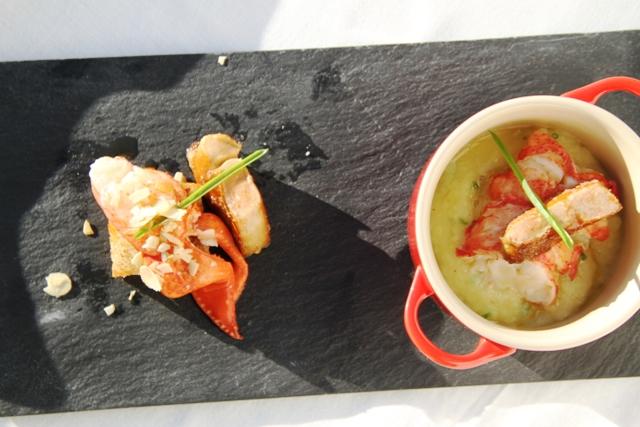 doppio astice con foiegras e patata al tartufo
