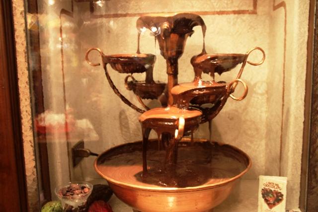 la fontana di cioccolato