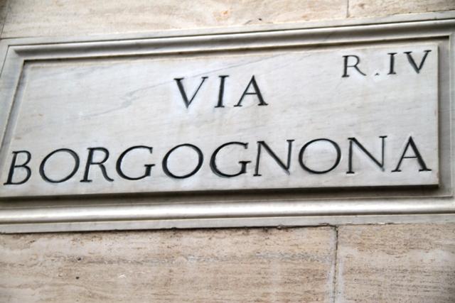 a via Borgognona