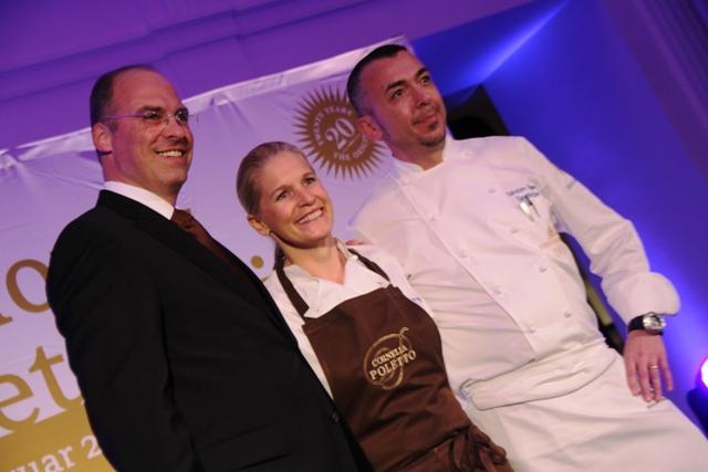 il Carlton, con Cornelia e direttore e chef resident