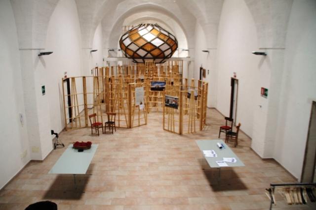 la sala per le esposizioni